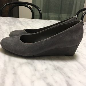 Clarks Shoes - Clarks Artisan Gray Wedge Heels